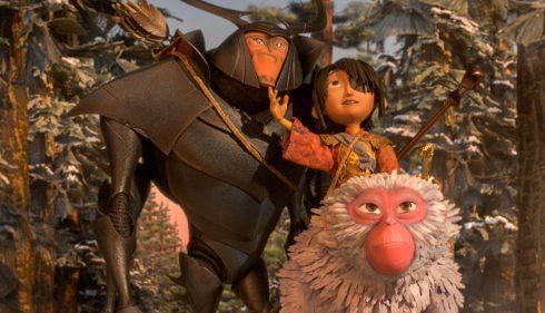 Kubo begibt sich mit seinen Beschützern Monkey und Beetle auf eine gefährliche Reise