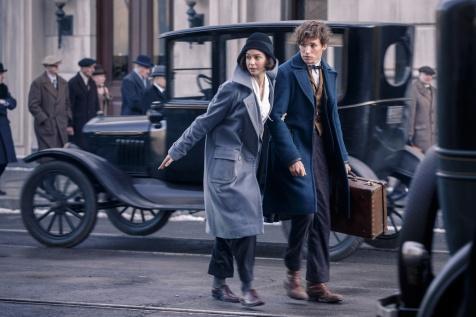 Newt erhält Hilfe von der charmanten Magierin Porpentina Goldstein (Katherine Waterston).